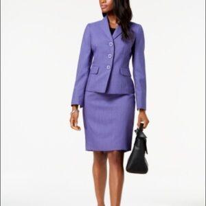 Purple Le Suite skirt and blazer size 2P